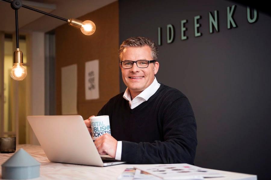 Manuel Scheyda von Ppi Media in der Ideenküche