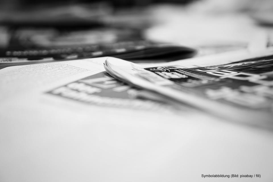 Symbolbild Zeitungsproduktion PlanPag